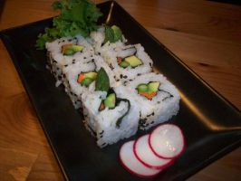 Sushi with asparagus by JCaceres
