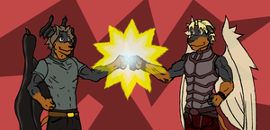 DoberBroFist : Dorcan + Aiden by tapewolf