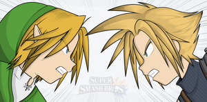 Cloud Vs. Link! by Mythgraven