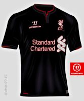LFC 3rd Away shirt 2014/15 concept by kitster29