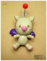 Fimo Moogle Final Fantasy by LolleBijoux