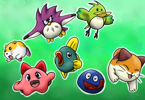 Kirby's Animal Buddies by Riadorana