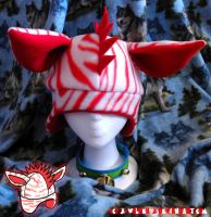 Red Zebra Hat by x-Wolfeh-x