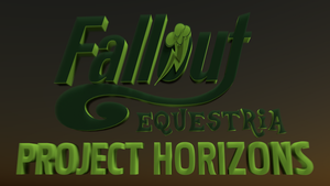 Fallout Eqestria Project Horizons Title by bas126