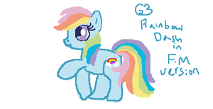 G3 Rainbow Dash in FiM Version by Puppies567