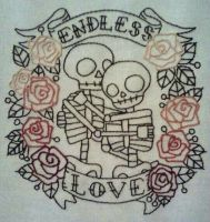 Endless Love Embroidery by me-tal
