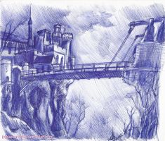 Salazar's castle using blue pen(again) by Naoanastas
