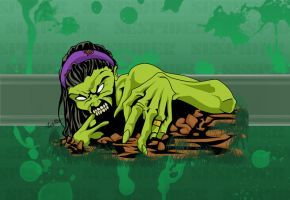 Green Zombie by SEspider