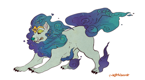 Galaxy Foo Dog Design Commish by nettlebeast