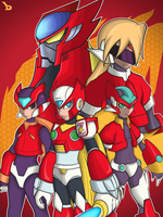 Megaman Team Zero by bayubaruna