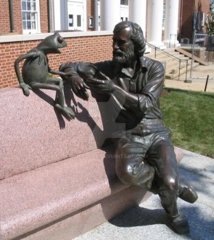 Jim Henson and Kermit the Frog by curesque