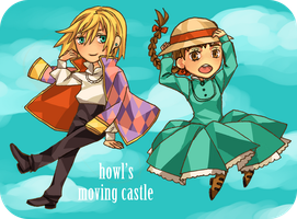 Howl's Moving Castle Chibis by LUNATICfantasy