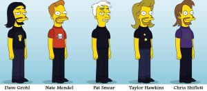 Foo Fighters - Simpsons Style by Jabari123