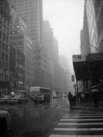 Snow Day In New York by OfiliaBell
