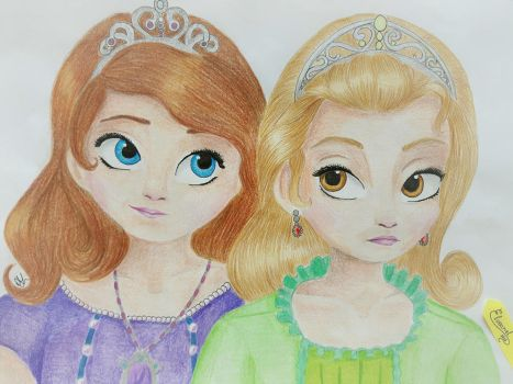Sofia the First - Sofia and Amber by Elveariel