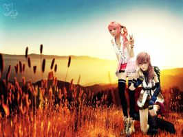 Serah and Lightning by oOLightningOo