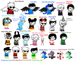 HUGE Homestuck Sprite Dump by PONYPUKE