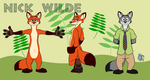 Nick Wilde Ref Sheet by Bleuxwolf