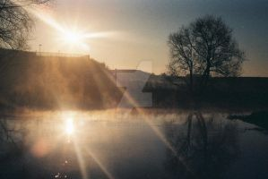 early sun on the canal by AWanderer01