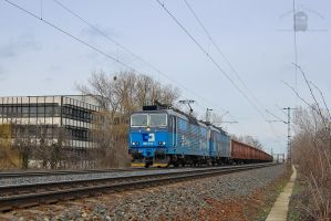 363 514 and 515 (CDCargo) with freight near Gyor by morpheus880223