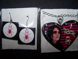 Gerard Way, MCR jewelry set by poofiepoof