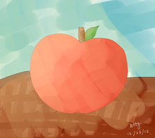 Apple painting by kittiehcakes
