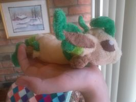 Lazy Style Leafeon Plush by Vulpes-Canis