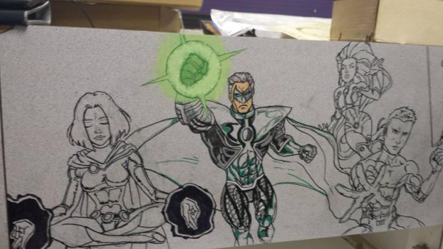 Crater City Comix Tombs WIP Teen Titans Lantern by Wolfgang-Blaine