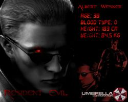 Albert Wesker Wallpaper by Varegess