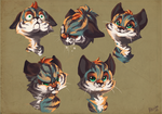Tigerback's expressions by TheMisterHinkkis