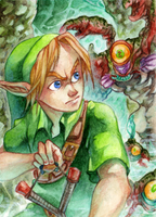 #89 OoT - Link and Gohma by RoteGruetze
