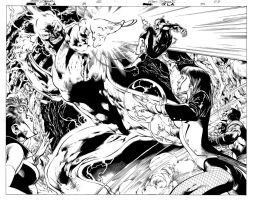JLA DOUBLE-PAGE by eddybarrows