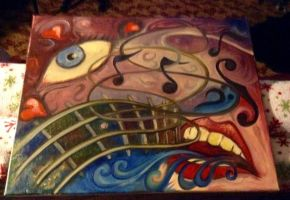 Oil Painting for a bassist by jdmacleod