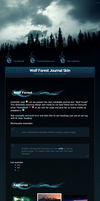 Wolf Forest Journal Skin v2 by sergbel