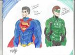 Superman and Green Lantern by BlackKnife12