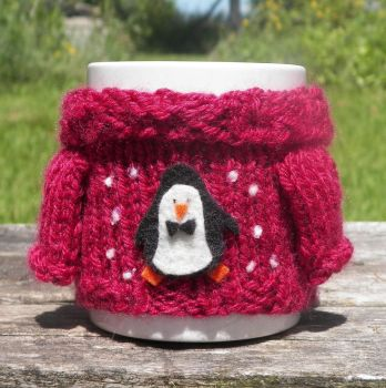 Mabel Sweater Mug Cosy - Penguin by TheSweaterProject