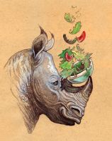 Rhino Salad by caramitten