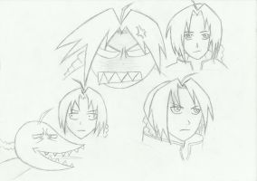 Facial expressions of Edward Elric by partybeast1