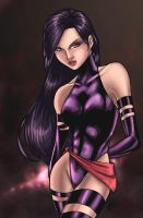 psylocke colored by JamieFayX