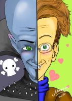 Two sides of MegaMind by AthenaNina