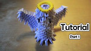 How To Make a 3D Origami Angel (part 1) VIDEO by IDEAndo-art