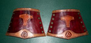 Northman Bracers -  Final by RuehlLeatherWorks