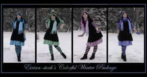Colorful Winter Package by Eirian-stock