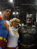 Superman, Power Girl, Batman by SpideyVille
