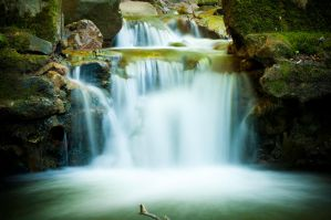 Uvas Park Waterfall by Evamael
