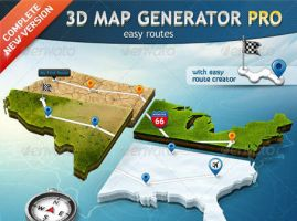 3D Map Generator Pro by FreeIconsFinder