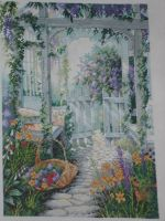 The Garden Gate cross stitch by stardancer1