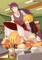 Uzumaki Family Love by litaone