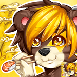 Doomy-bear Sushi Icon by Buried-Above-Love