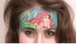 The Little Mermaid face paint. by Blueberrystarbubbles